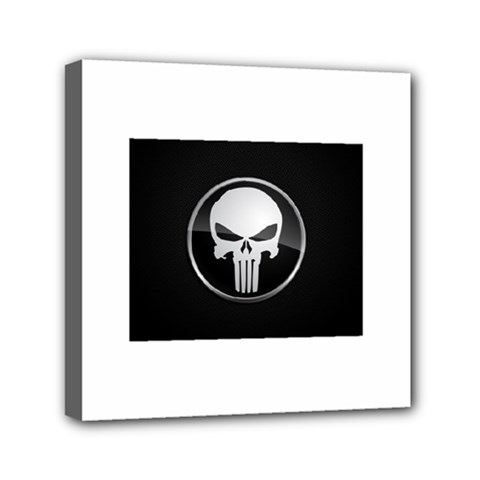 The Punisher Wallpaper  Mini Canvas 6  X 6  (framed)