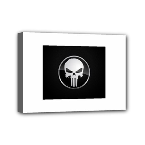 The Punisher Wallpaper  Mini Canvas 7  x 5  (Framed)