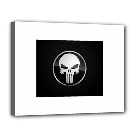 The Punisher Wallpaper  Canvas 14  x 11  (Framed)