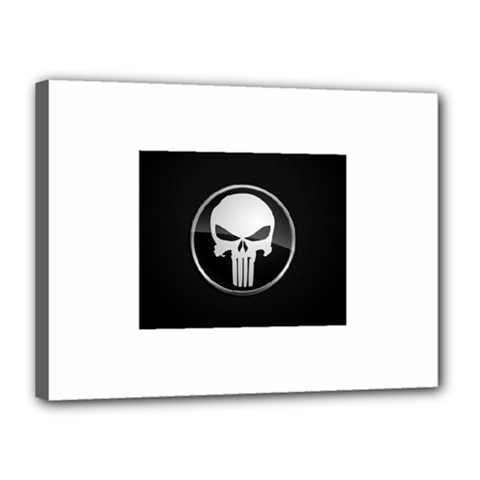 The Punisher Wallpaper  Canvas 16  x 12  (Framed)