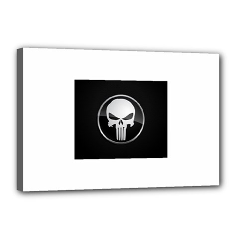 The Punisher Wallpaper  Canvas 18  x 12  (Framed)