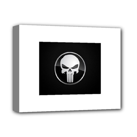The Punisher Wallpaper  Deluxe Canvas 14  X 11  (framed)