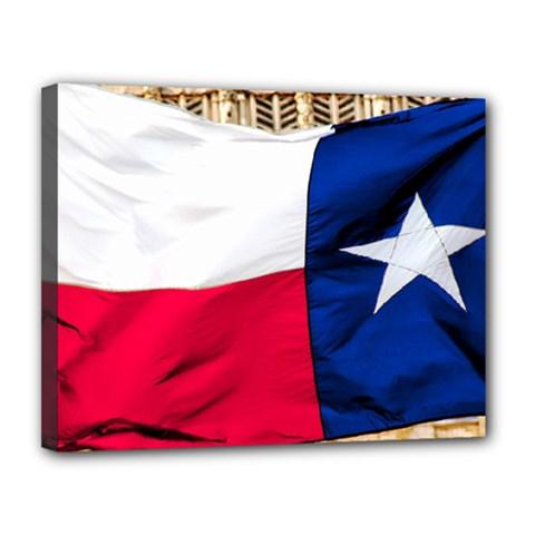 Texas Canvas 14  X 11  (framed)