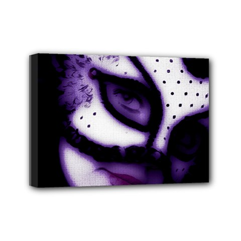 Purple M Mini Canvas 7  X 5  (framed)