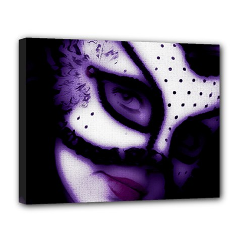 Purple M Canvas 14  X 11  (framed)