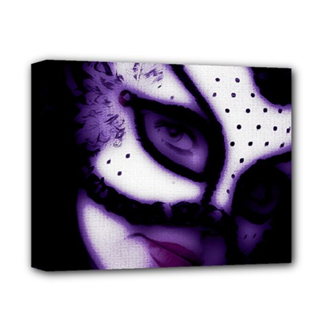 PURPLE M Deluxe Canvas 14  x 11  (Framed)