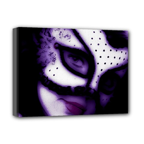 PURPLE M Deluxe Canvas 16  x 12  (Framed)