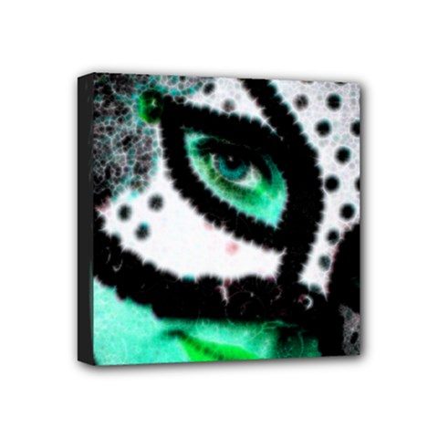 Masked Mini Canvas 4  X 4  (framed)