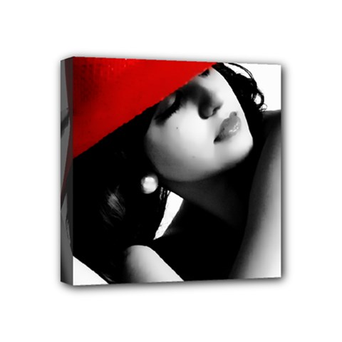 RED HAT Mini Canvas 4  x 4  (Framed)