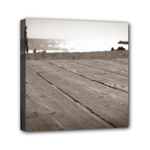 Laguna Beach Walk Mini Canvas 6  x 6  (Framed)