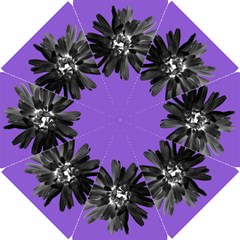 Daisy Black On Purple Bridesmaids Umbrella
