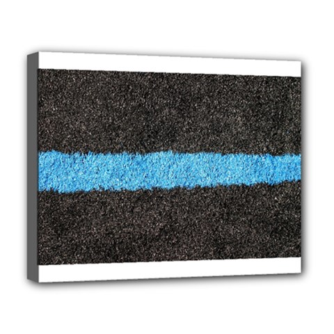 Black Blue Lawn Deluxe Canvas 20  x 16  (Framed)