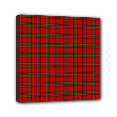 The Clan Steward Tartan Mini Canvas 6  X 6  (framed)