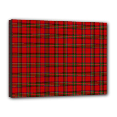 The Clan Steward Tartan Canvas 16  x 12  (Framed)