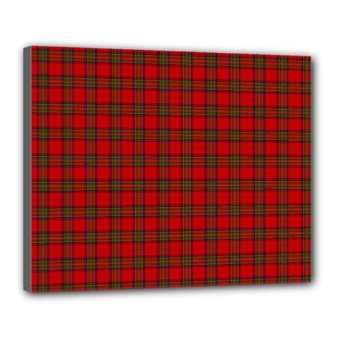 The Clan Steward Tartan Canvas 20  X 16  (framed)
