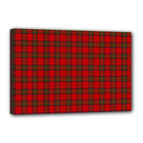 The Clan Steward Tartan Canvas 18  x 12  (Framed)