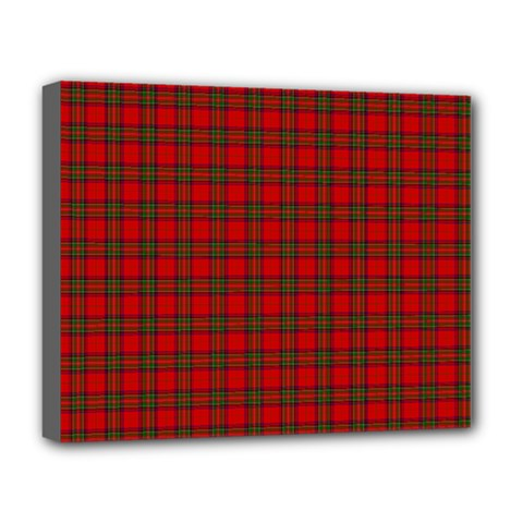 The Clan Steward Tartan Deluxe Canvas 20  x 16  (Framed)