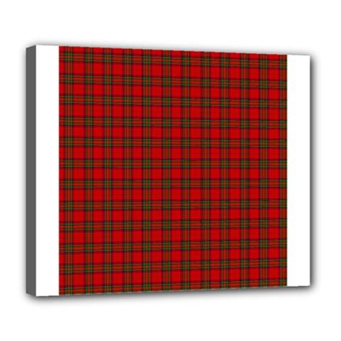 The Clan Steward Tartan Deluxe Canvas 24  x 20  (Framed)
