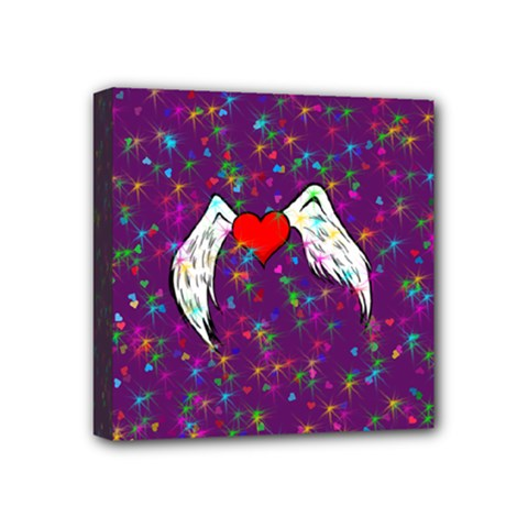 Your Heart Has Wings so Fly - Updated Mini Canvas 4  x 4  (Framed)