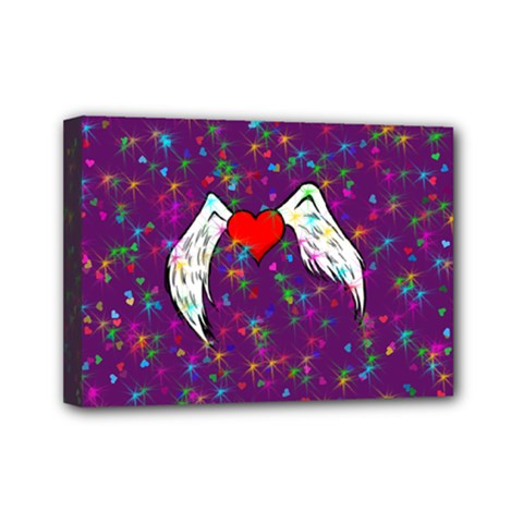 Your Heart Has Wings so Fly - Updated Mini Canvas 7  x 5  (Framed)