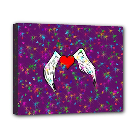 Your Heart Has Wings so Fly - Updated Canvas 10  x 8  (Framed)