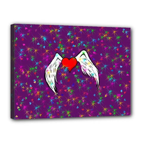 Your Heart Has Wings so Fly - Updated Canvas 16  x 12  (Framed)