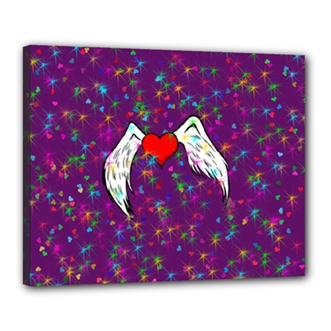 Your Heart Has Wings so Fly - Updated Canvas 20  x 16  (Framed)