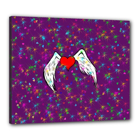 Your Heart Has Wings so Fly - Updated Canvas 24  x 20  (Framed)