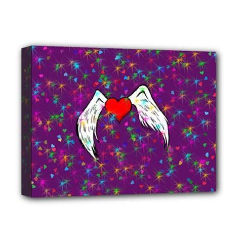 Your Heart Has Wings so Fly - Updated Deluxe Canvas 16  x 12  (Framed)