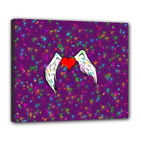 Your Heart Has Wings so Fly - Updated Deluxe Canvas 24  x 20  (Framed)