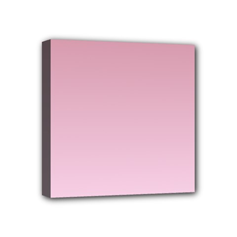 Puce To Pink Lace Gradient Mini Canvas 4  x 4  (Framed)