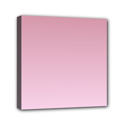 Puce To Pink Lace Gradient Mini Canvas 6  x 6  (Framed)