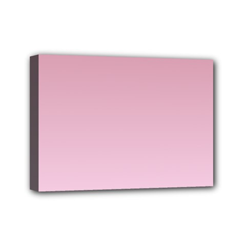Puce To Pink Lace Gradient Mini Canvas 7  x 5  (Framed)