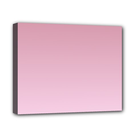 Puce To Pink Lace Gradient Canvas 10  X 8  (framed)
