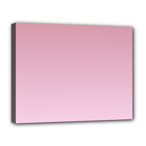 Puce To Pink Lace Gradient Canvas 14  X 11  (framed)