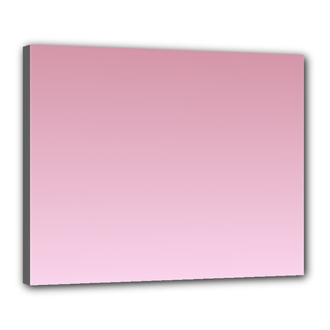 Puce To Pink Lace Gradient Canvas 20  X 16  (framed)