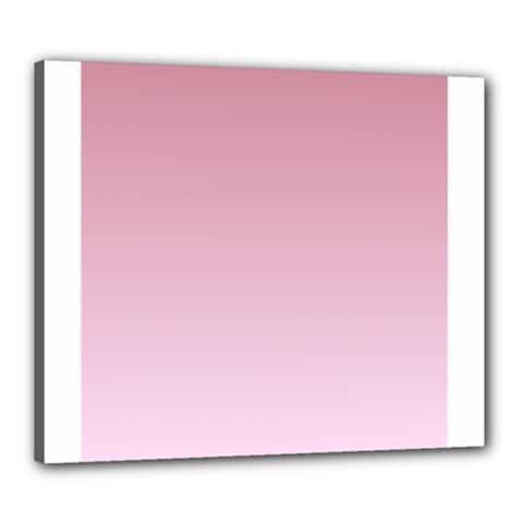 Puce To Pink Lace Gradient Canvas 24  x 20  (Framed)