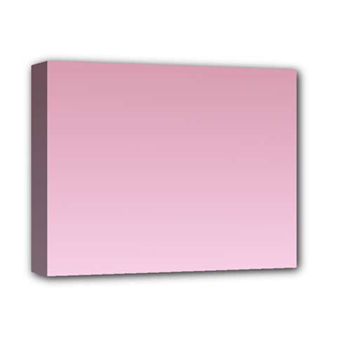 Puce To Pink Lace Gradient Deluxe Canvas 14  x 11  (Framed)
