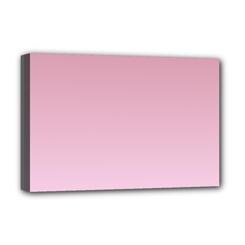 Puce To Pink Lace Gradient Deluxe Canvas 18  x 12  (Framed)