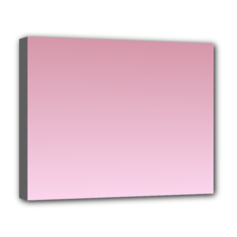 Puce To Pink Lace Gradient Deluxe Canvas 20  x 16  (Framed)