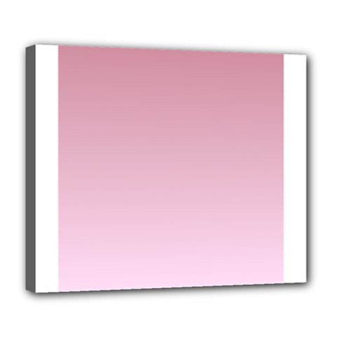Puce To Pink Lace Gradient Deluxe Canvas 24  x 20  (Framed)