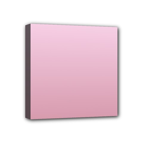 Pink Lace To Puce Gradient Mini Canvas 4  x 4  (Framed)