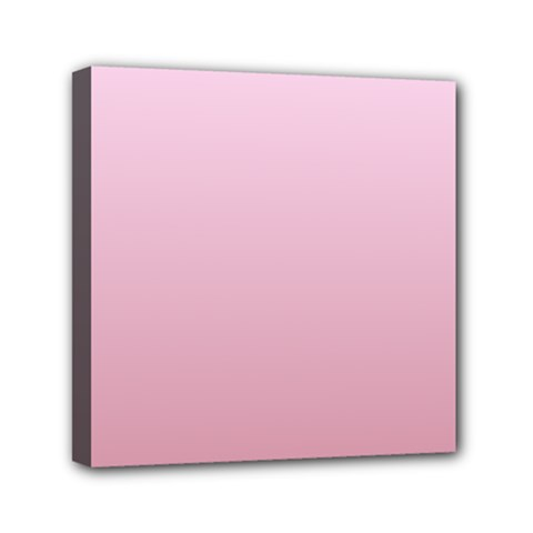 Pink Lace To Puce Gradient Mini Canvas 6  X 6  (framed)