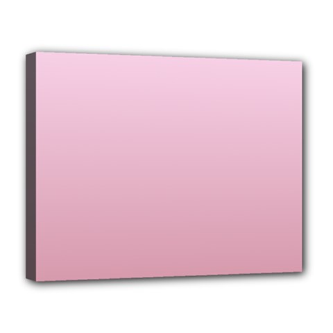 Pink Lace To Puce Gradient Canvas 14  x 11  (Framed)