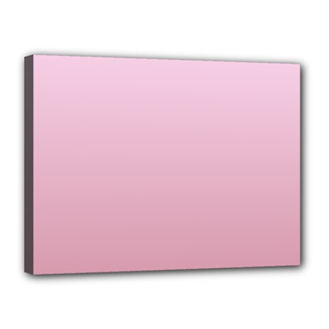 Pink Lace To Puce Gradient Canvas 16  x 12  (Framed)