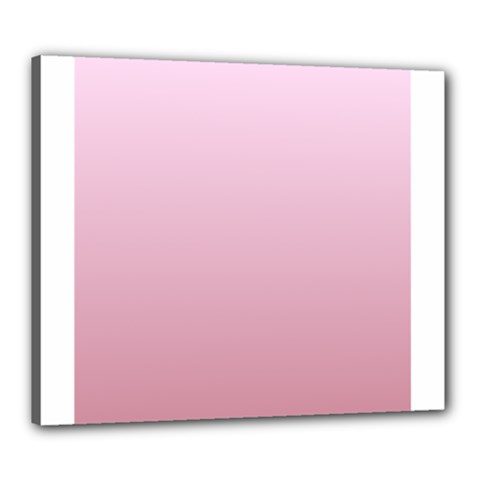 Pink Lace To Puce Gradient Canvas 24  X 20  (framed)