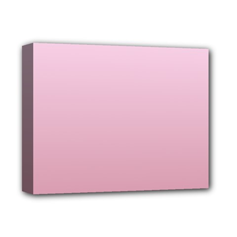 Pink Lace To Puce Gradient Deluxe Canvas 14  x 11  (Framed)