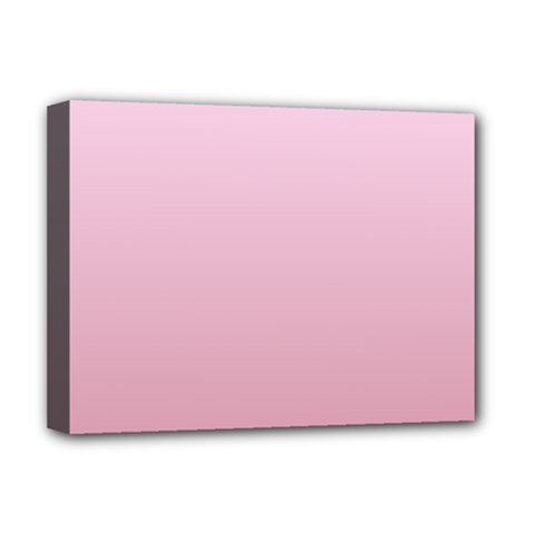 Pink Lace To Puce Gradient Deluxe Canvas 16  X 12  (framed)