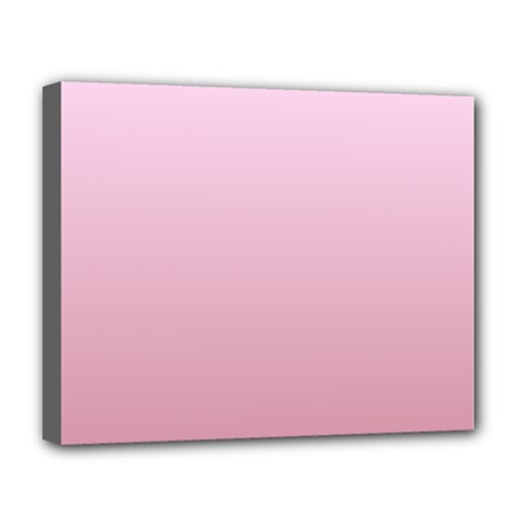 Pink Lace To Puce Gradient Deluxe Canvas 20  x 16  (Framed)