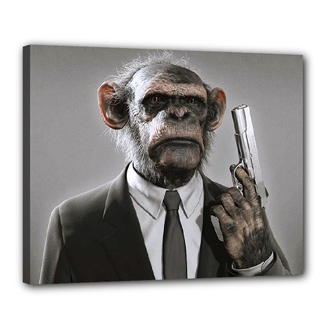 Monkey Business Canvas 20  x 16  (Framed)